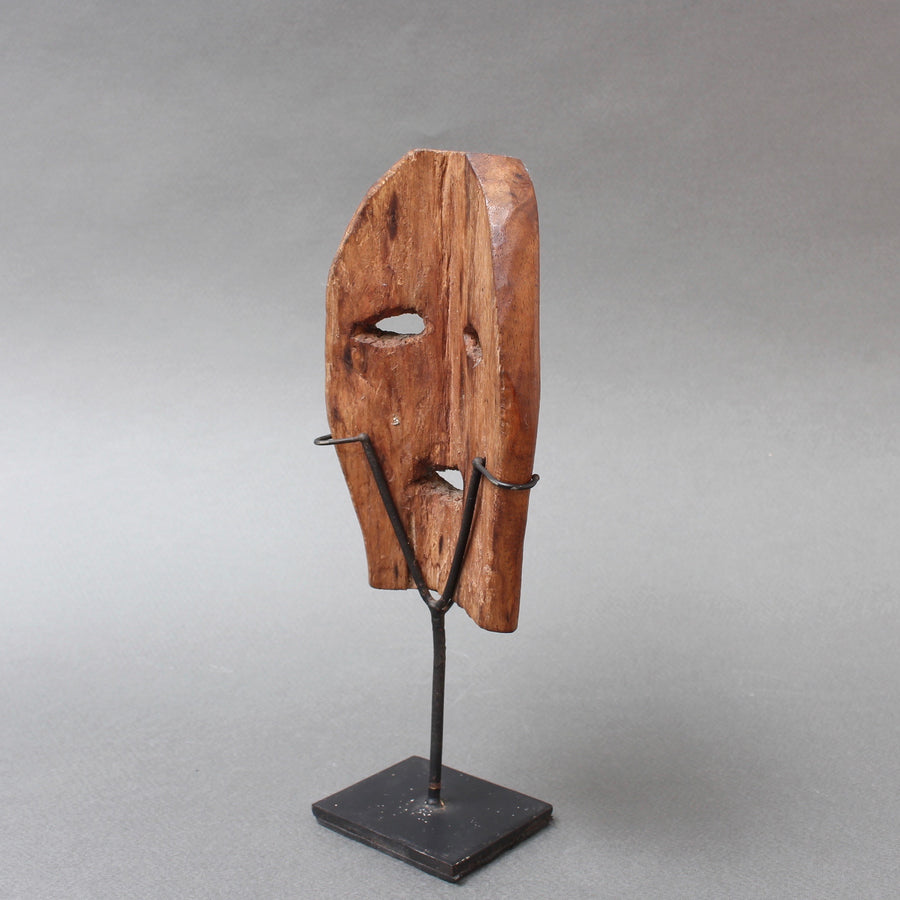 Carved Wooden Traditional Mask from Timor Island, Indonesia (circa 1970s)