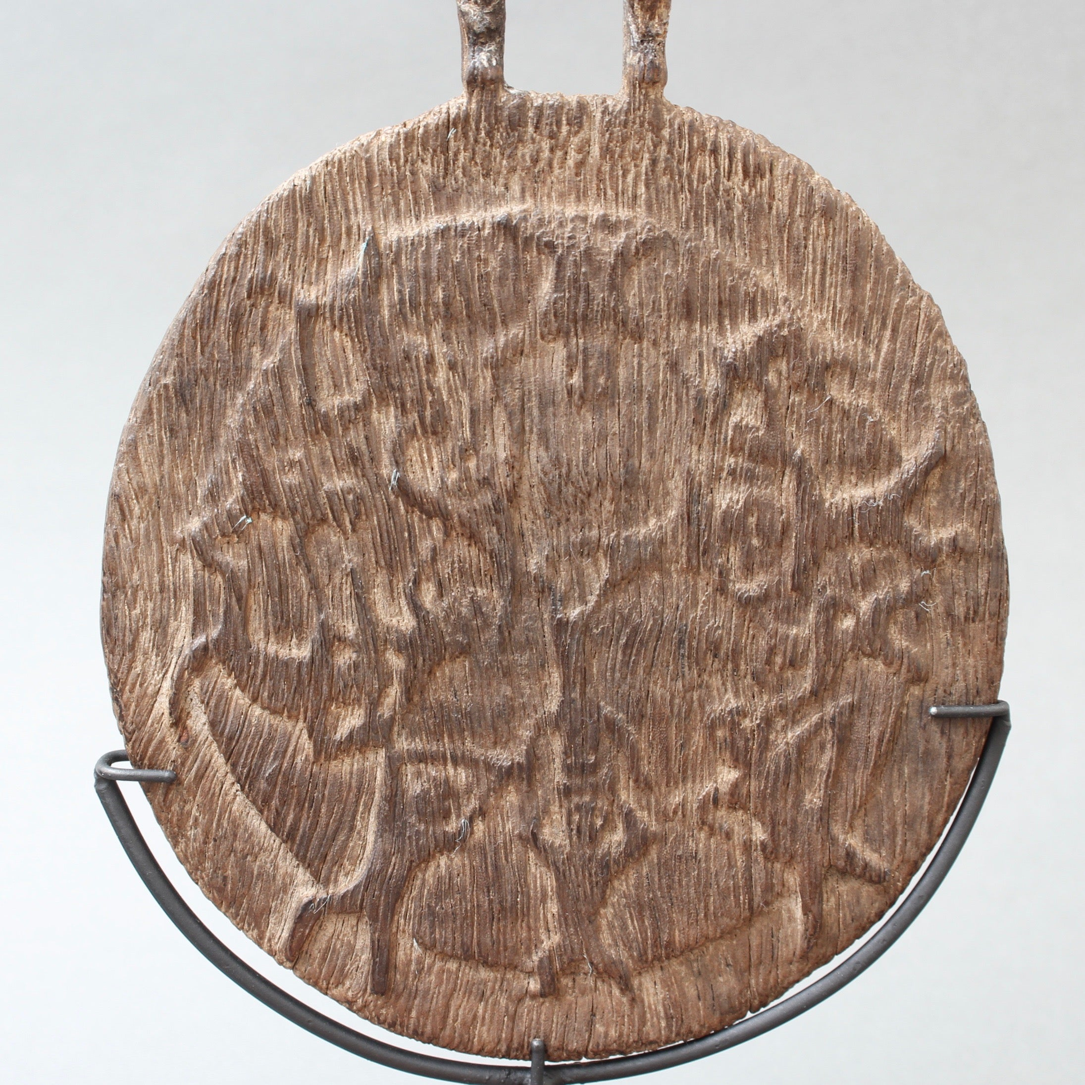 Early-20th Century Carved Wooden Ritual Calendar from Kalimantan (Borneo)