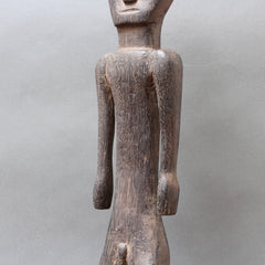 Wooden Carved Ancestral Figure of Ironwood from Borneo (Mid-20th Century)