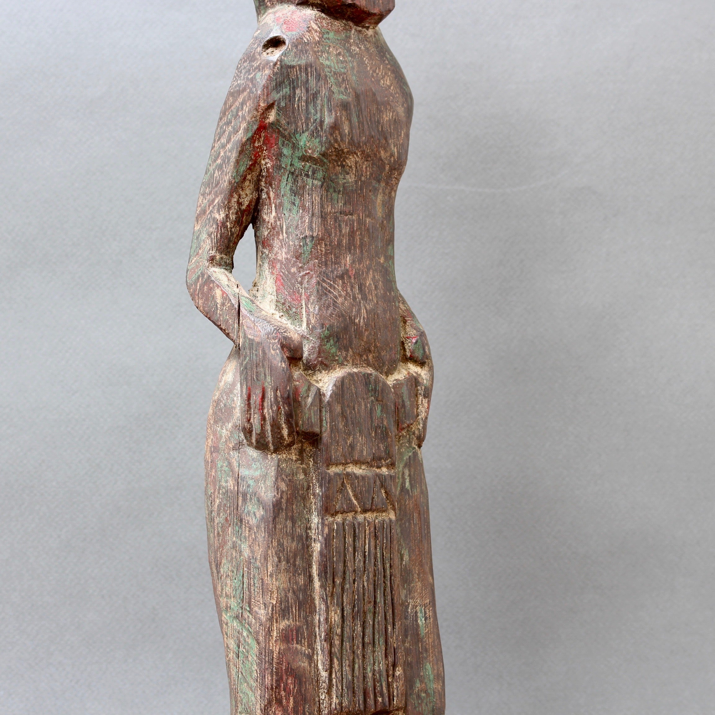Ironwood Carved Ancestral Male Figure from Borneo (circa 1930s - 50s)