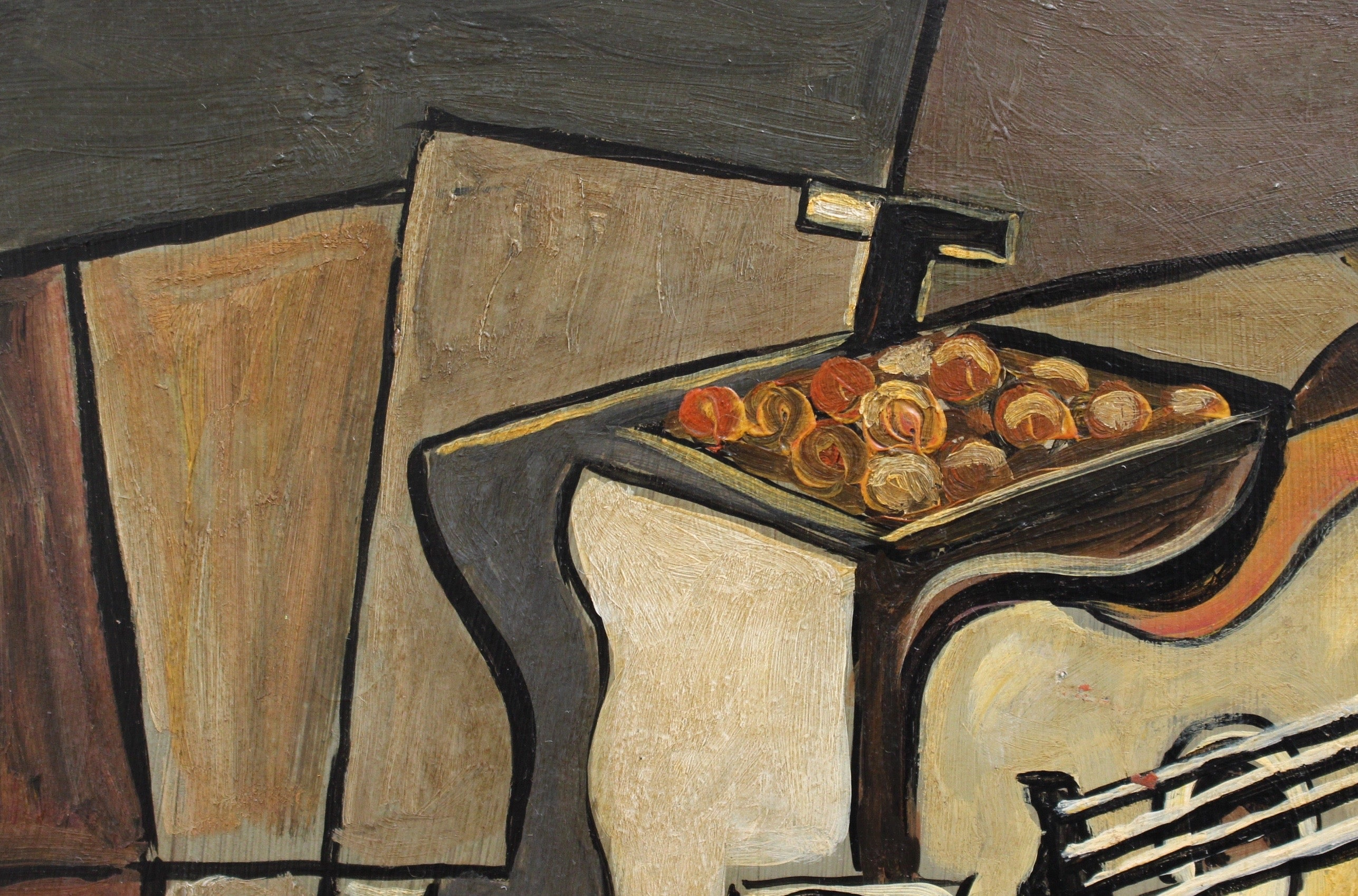 'Cubist Still Life on Table' by J.G. (circa 1940s - 1960s)