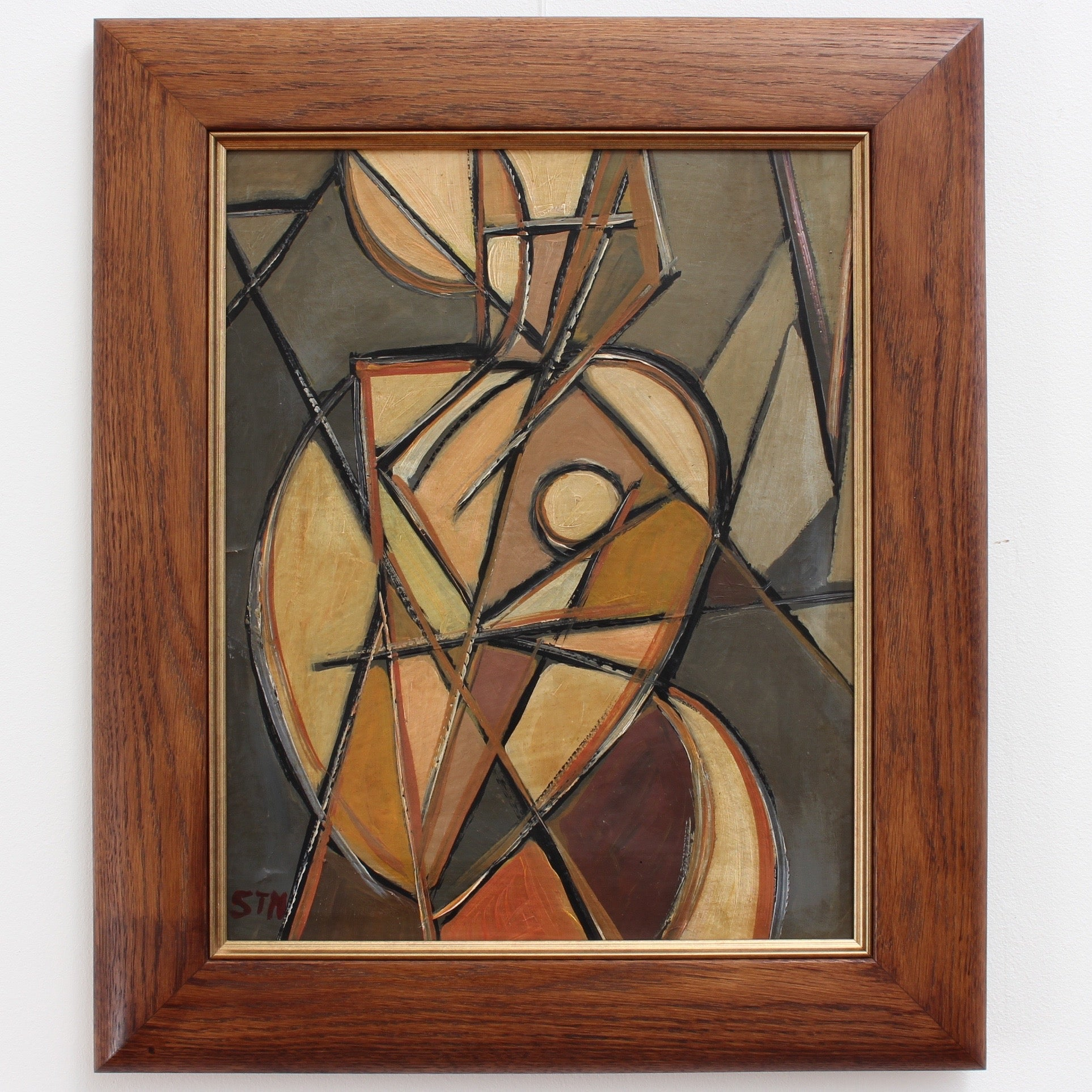'Portrait of Woman in the Mirror' by STM (circa 1940s - 1960s)