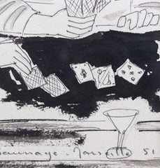 'Card Players in Marseille' by Max Papart (1951)