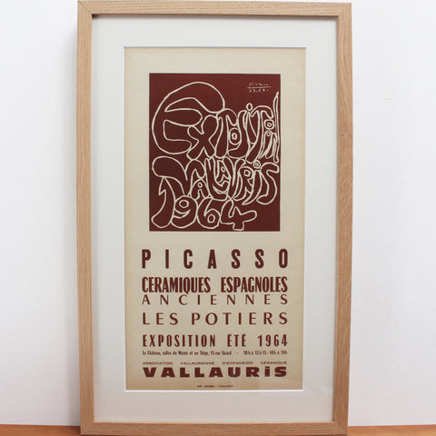 Vintage Vallauris Ceramics Poster by Pablo Picasso and Arnéra Printers (1964)