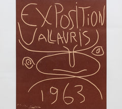 Vintage Vallauris Ceramics Poster by Pablo Picasso and Arnéra Printers (1963)