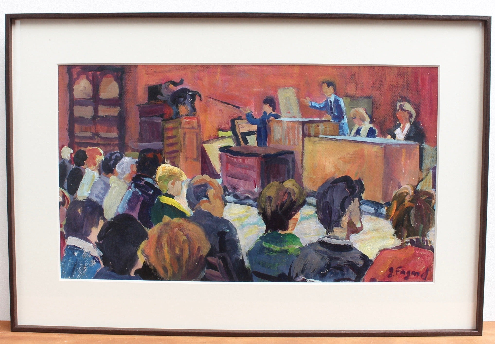 'The Auction House' by Gerard Fagard (circa 1970s)