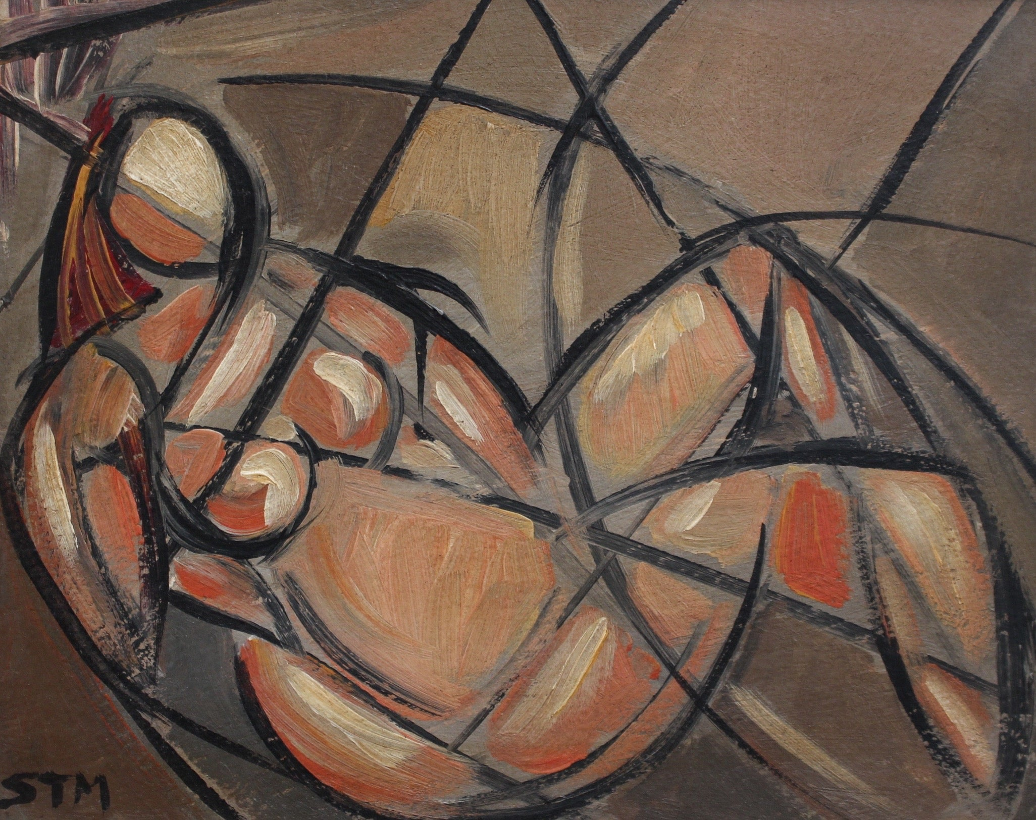 'Portrait of Reclining Woman' by STM (circa 1940s - 1960s)