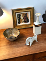 Ceramic Decorative Bull by Bruno Gambone (circa 1970s)