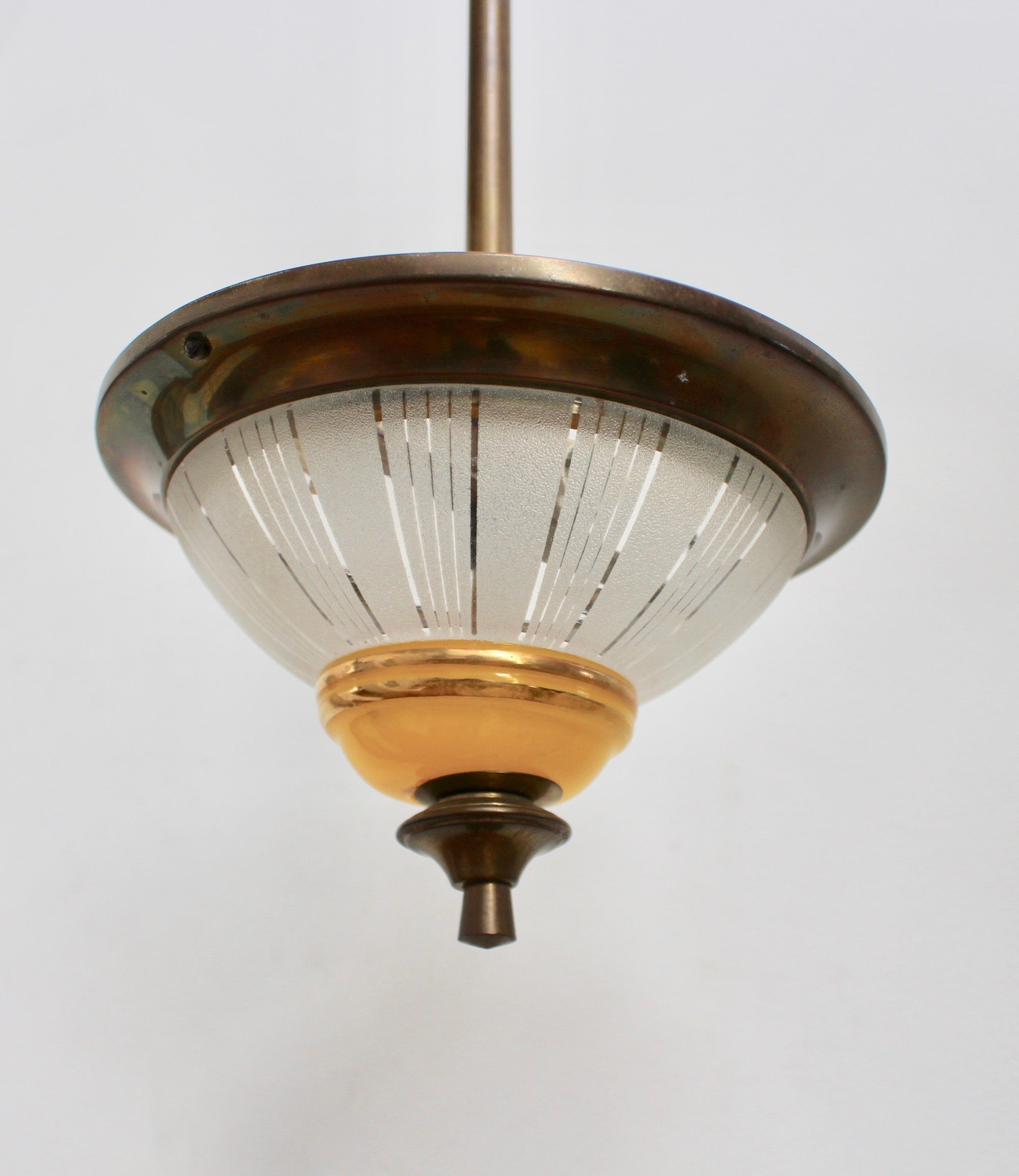 French Mid-Century Conical Ceiling Light (circa 1940s)