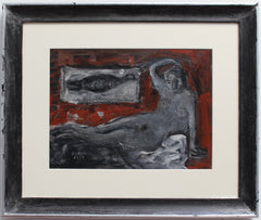 'Reclining Nude with Fish' by Richard Mandin (1963)