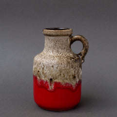 W. Germany Pottery Jug-handle Vase (Scheurich)