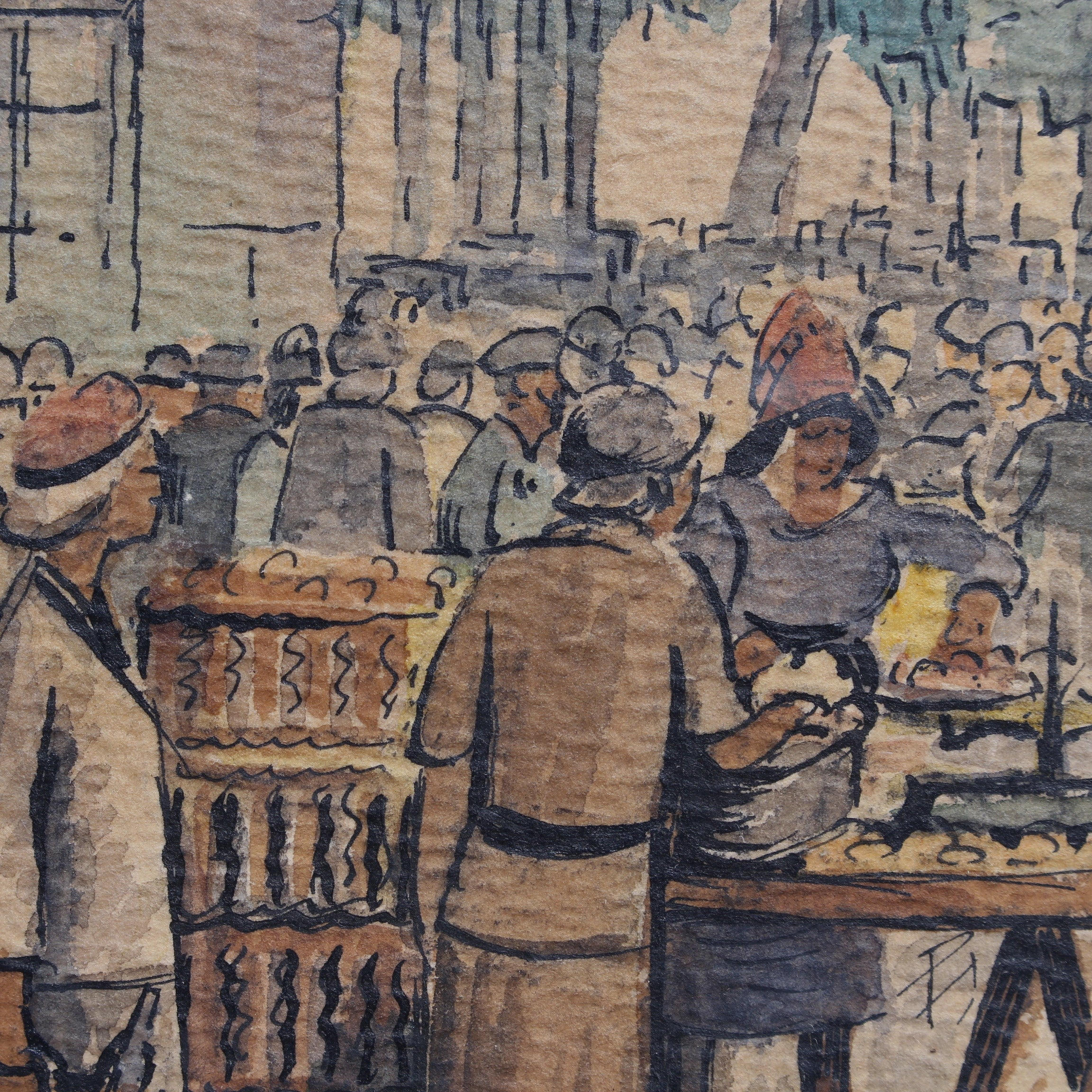 'French Market Day' by Charles Orens Denizard (1945)