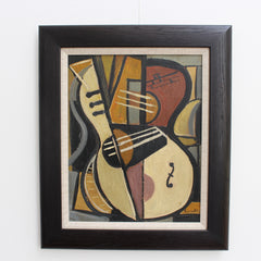 'Still Life with Guitar' by Lacoste (circa 1950s-70s)