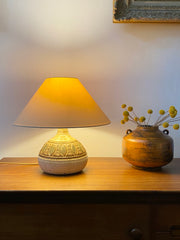 Mid-Century French Ceramic Table Lamp by Marcel Giraud (circa 1960s)
