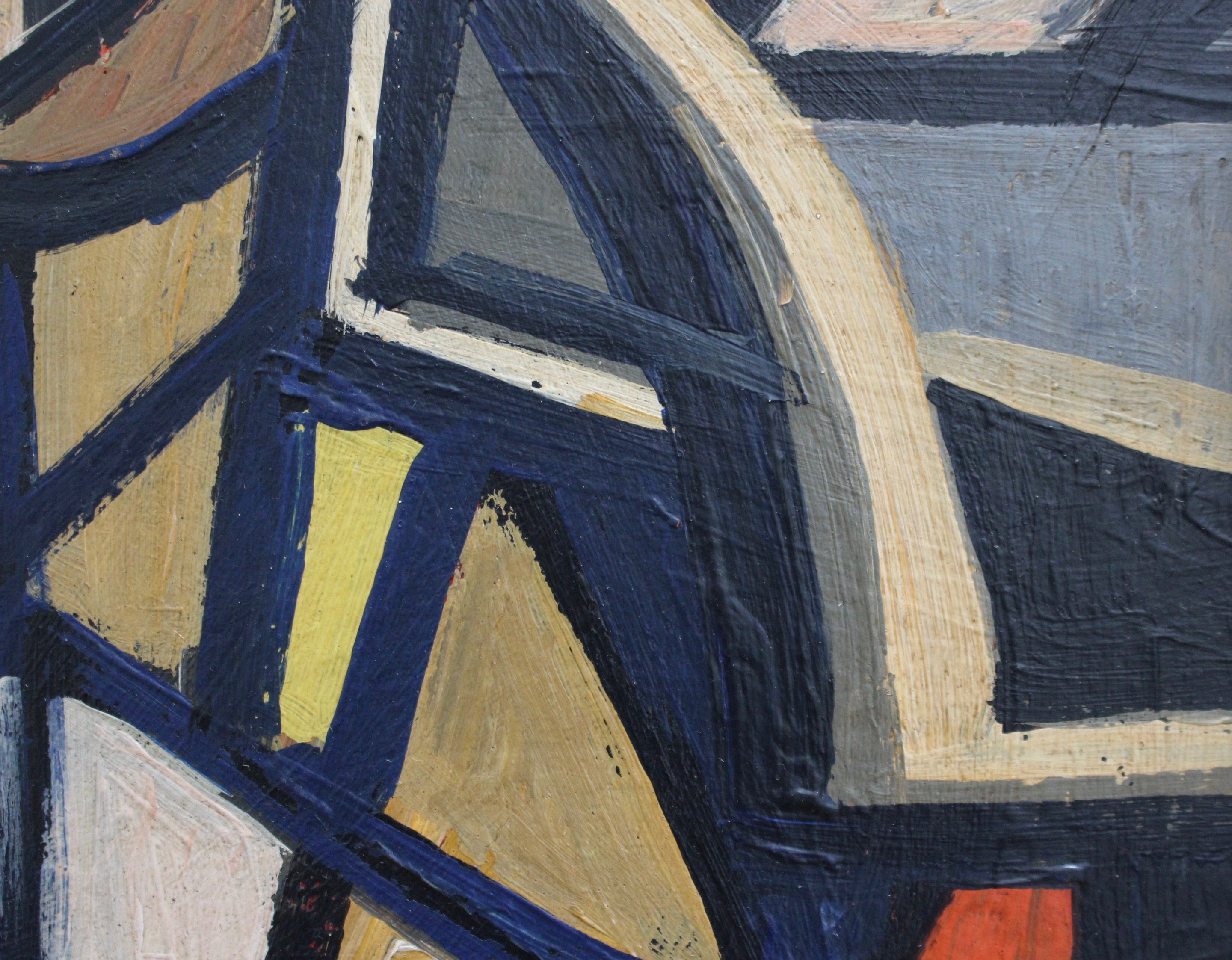 'Cubist Abstraction' by STM (circa 1950s-70s)