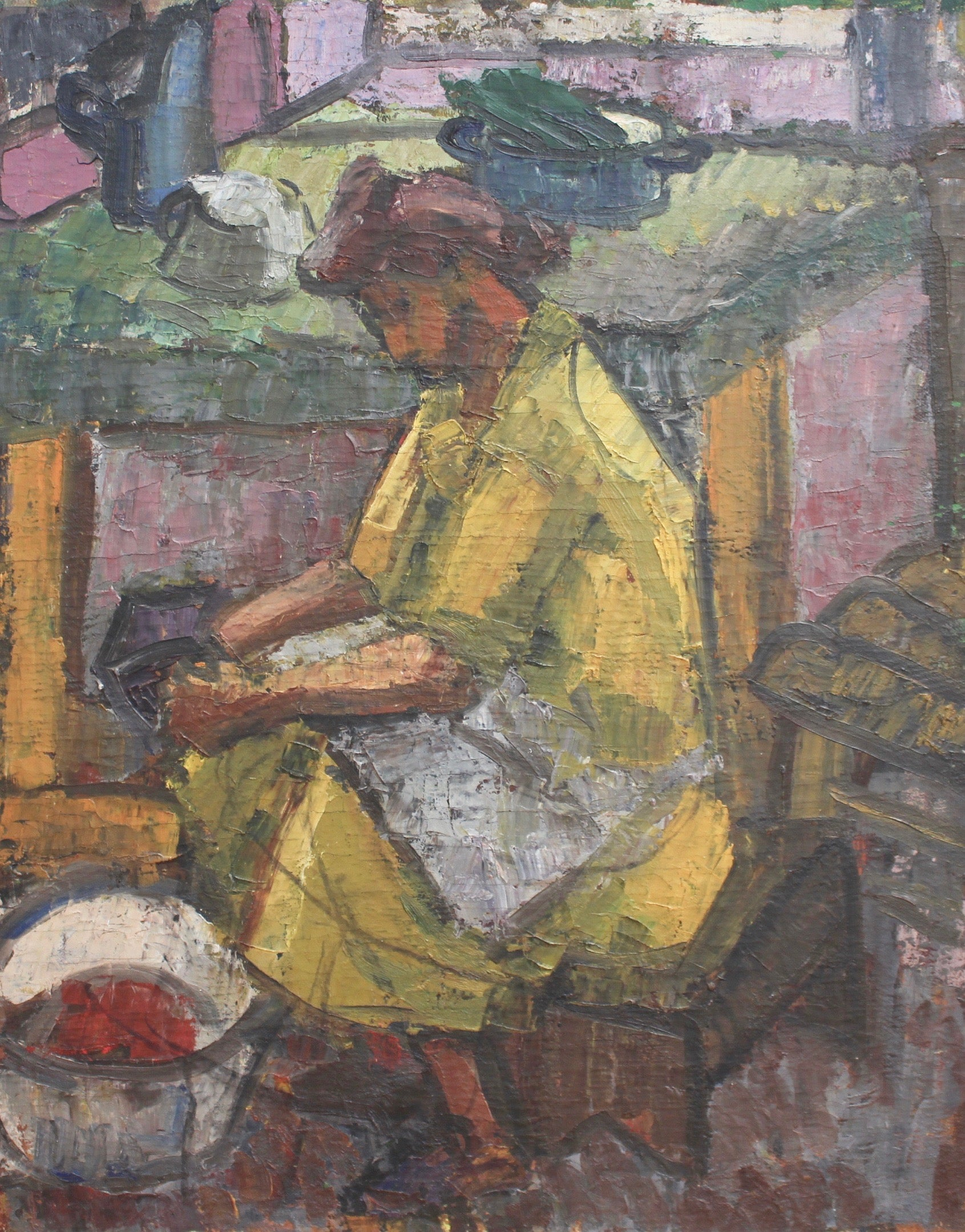 'Mama Toiling in the Kitchen' by Alexandre Istrati (circa 1940s)