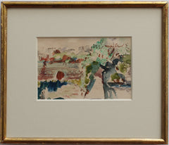 'Two Scenes of the River Seine' by Mark Simons (c. 1930s)