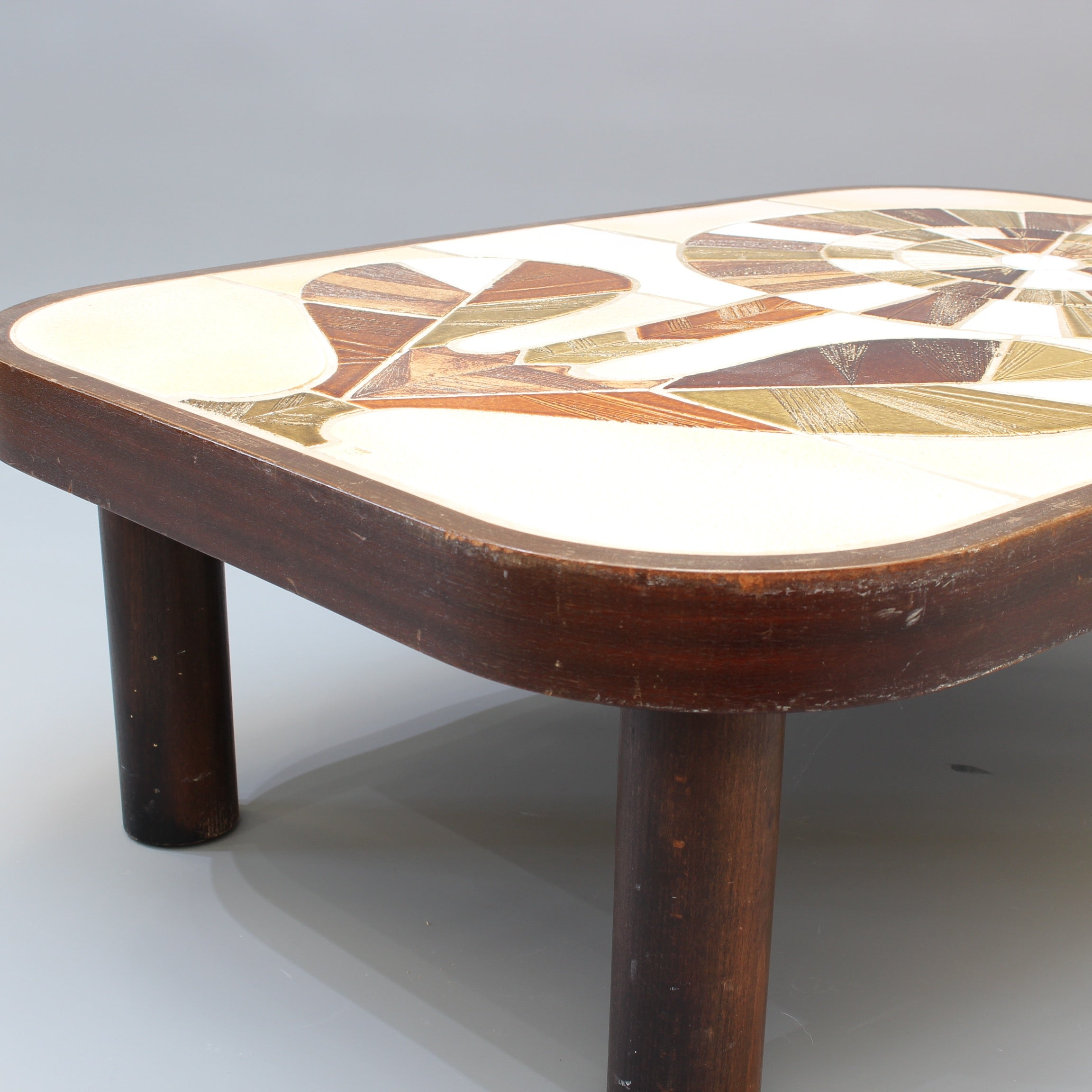 Ceramic Tiled Coffee Table by Roger Capron (circa 1970s)