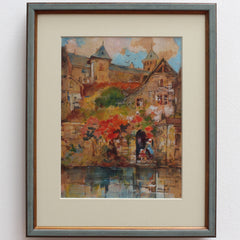 'Riverview of Dinan' by Robert Kervalo (c. 1950s)
