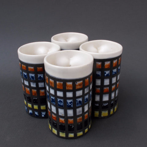 Roger Capron Set of Four Tumblers (c. 1950s)
