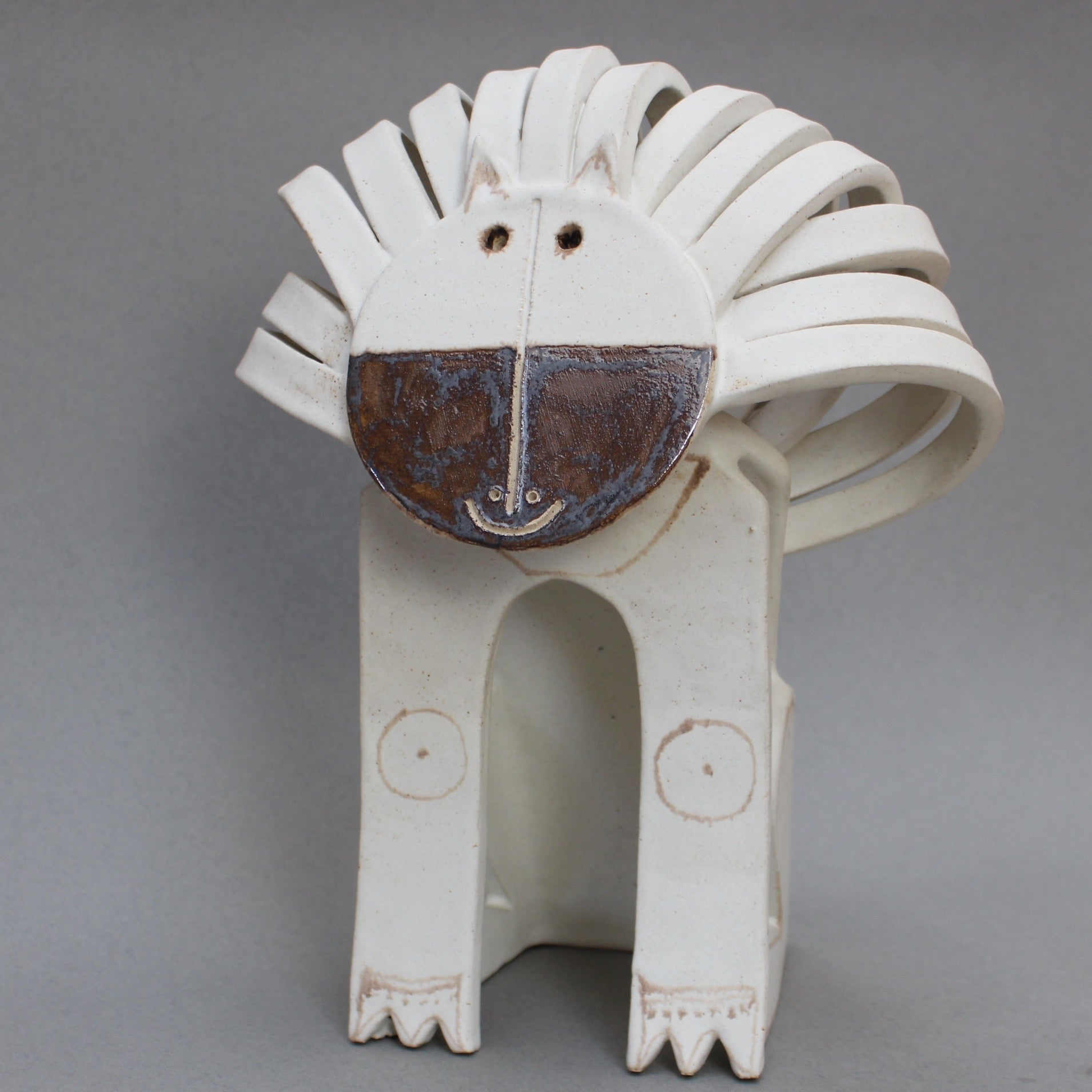 'Ceramic Lion Sculpture' by Bruno Gambone (c. 1970s)