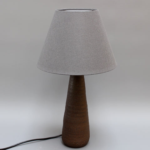 Mid-Century French Conical Shaped Ceramic Table Lamp by Jean Rivier (circa 1960s)
