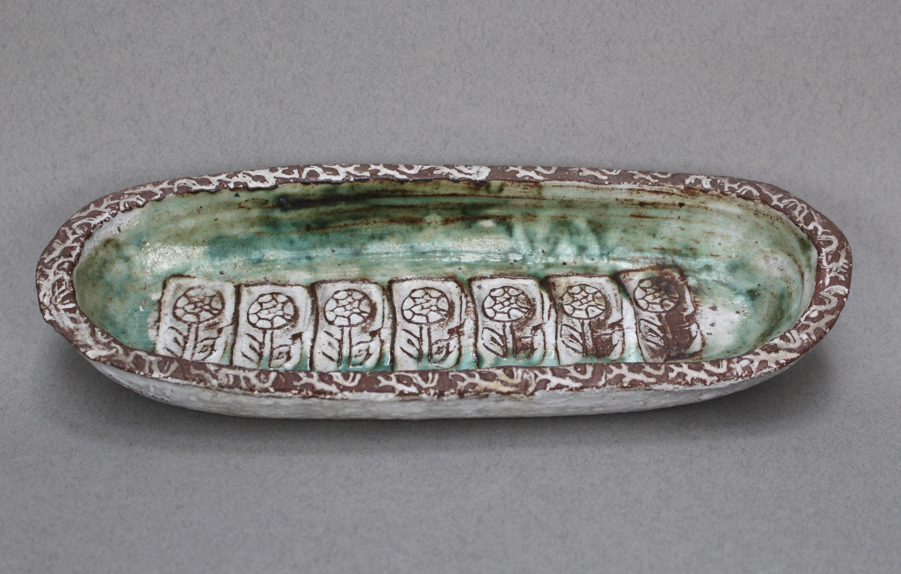 Ceramic Decorative Dish by Albert Thiry (c. 1960s)
