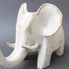 Italian Ceramic Elephant Sculpture by Bruno Gambone (Circa 1970s)