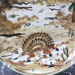 Ceramic Decorative Plate of Australian Bush by Neil Douglas for Arthur Merric Boyd Pottery (circa 1950s)