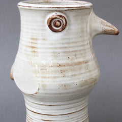 Ceramic Stylised Bird Vase by Jacques Pouchain (circa 1960s)
