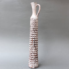 Decorative Elongated Ceramic Flower Vase by Jacques Pouchain (circa 1950s)