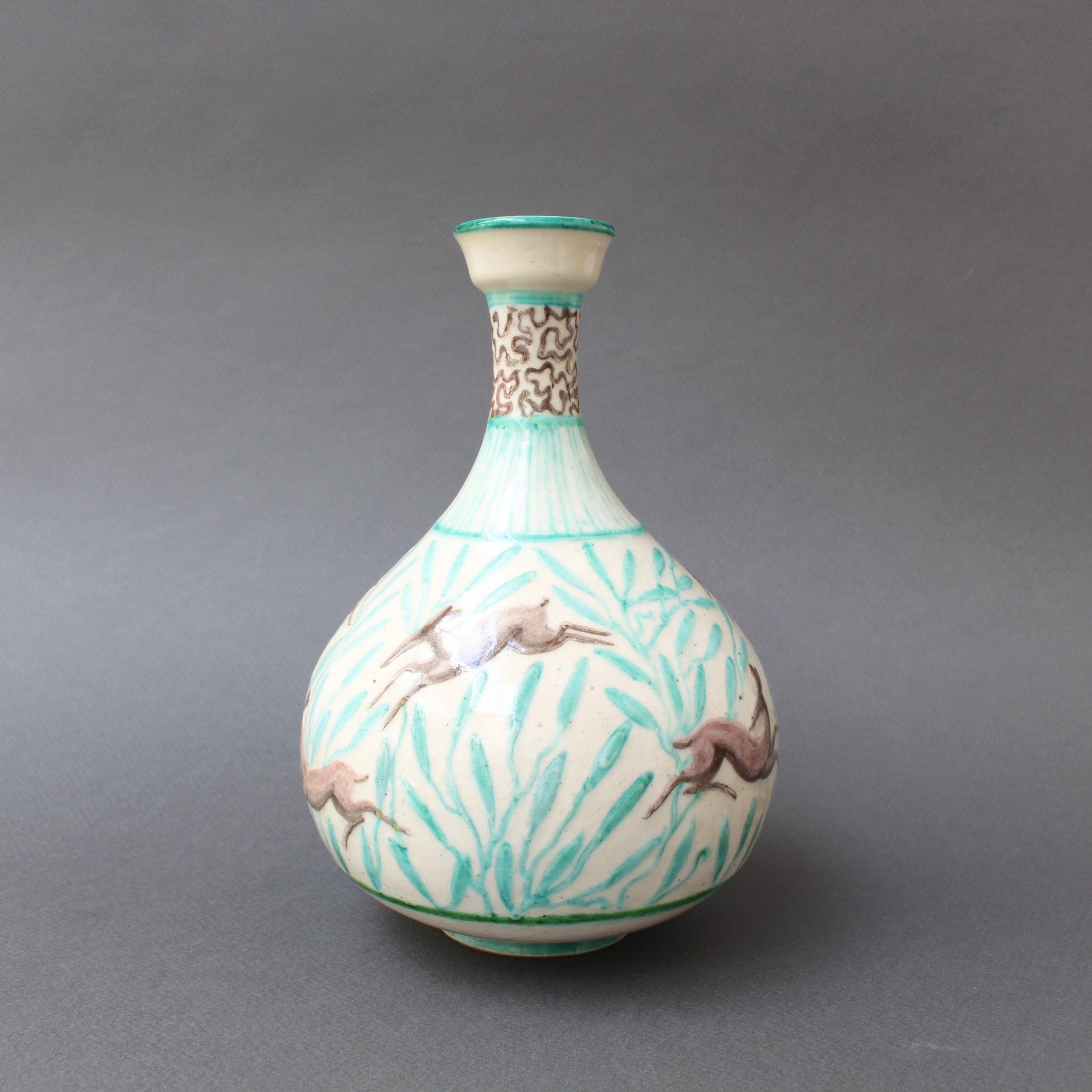 Vintage Ceramic Flower Vase by Jean Mayodon (circa 1960s)