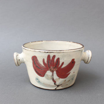 Small Ceramic Crockery Pot by Gustave Reynaud for Le Mûrier (circa 1950s)