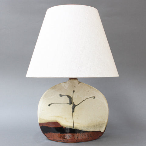 Ceramic Table Lamp by Colette Houtmann at Lune Vague (circa 1980s)