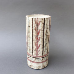 French Ceramic Vase by Gustave Reynaud, Le Mûrier (circa 1950s)