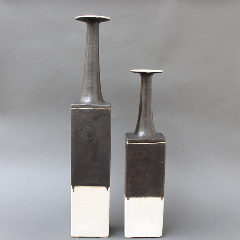 Pair of Italian Ceramic Vases by Bruno Gambone (circa 1970s)