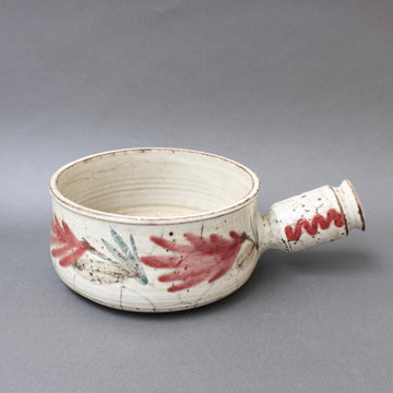 Mid-Century French Ceramic Decorative Pot by Gustave Reynaud for Le Mûrier (circa 1950s)