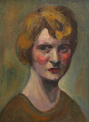 'Portrait of Earnest Woman' by Unknown Artist (circa 1930s)