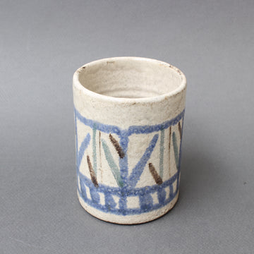 Mid-Century French Ceramic Vase / Pencil Holder by Gustave Reynaud for Le Mûrier (circa 1950s)