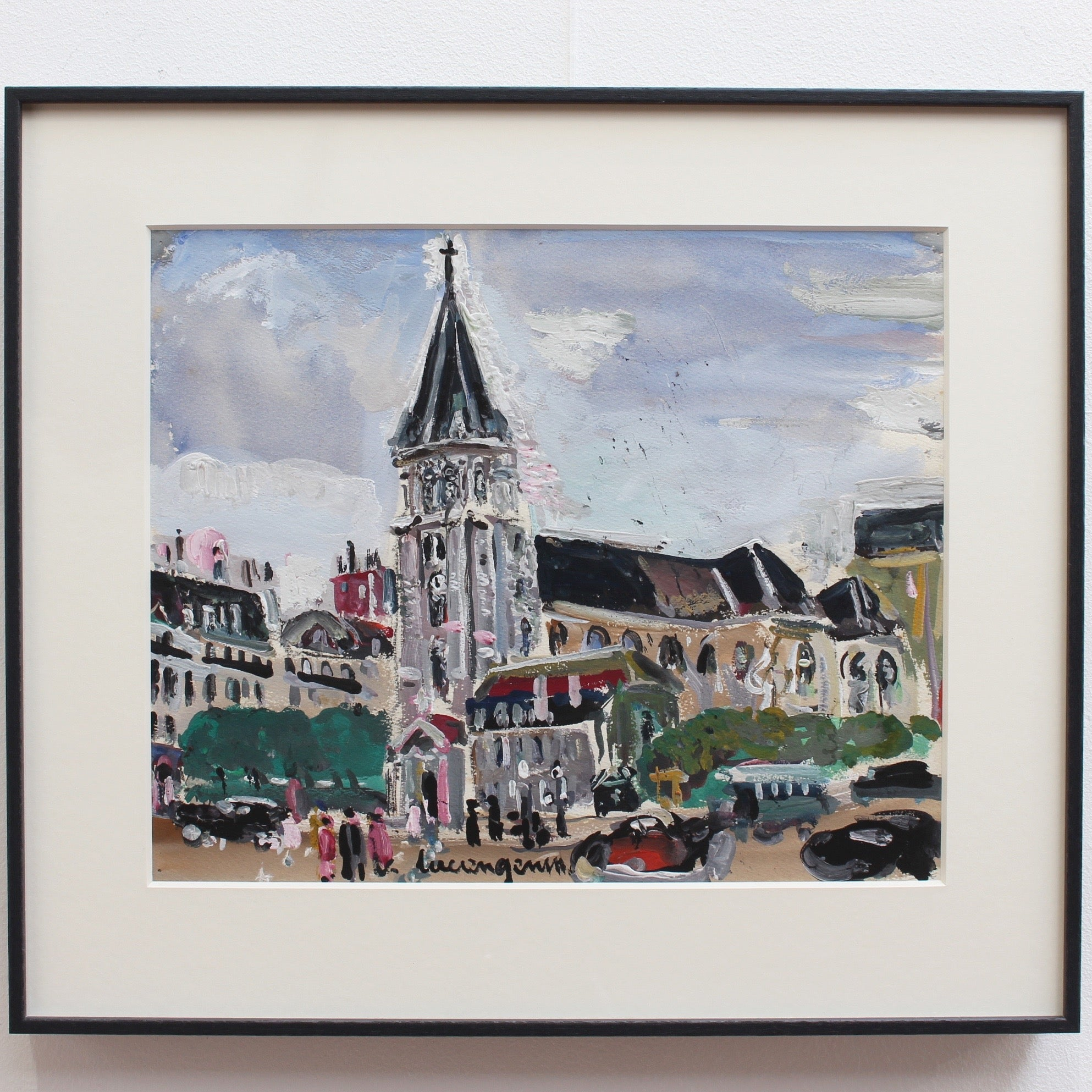 'View of Saint Germain des Pres Church' by Lucien Génin (circa 1930s)