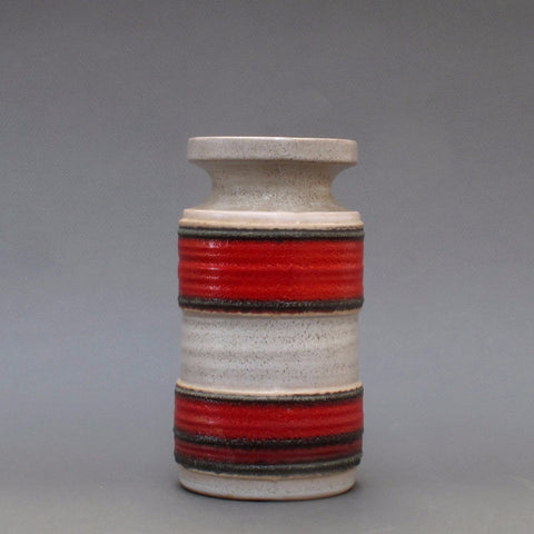 West German Ribbed Lava Vase 3078B (c. 1960s)