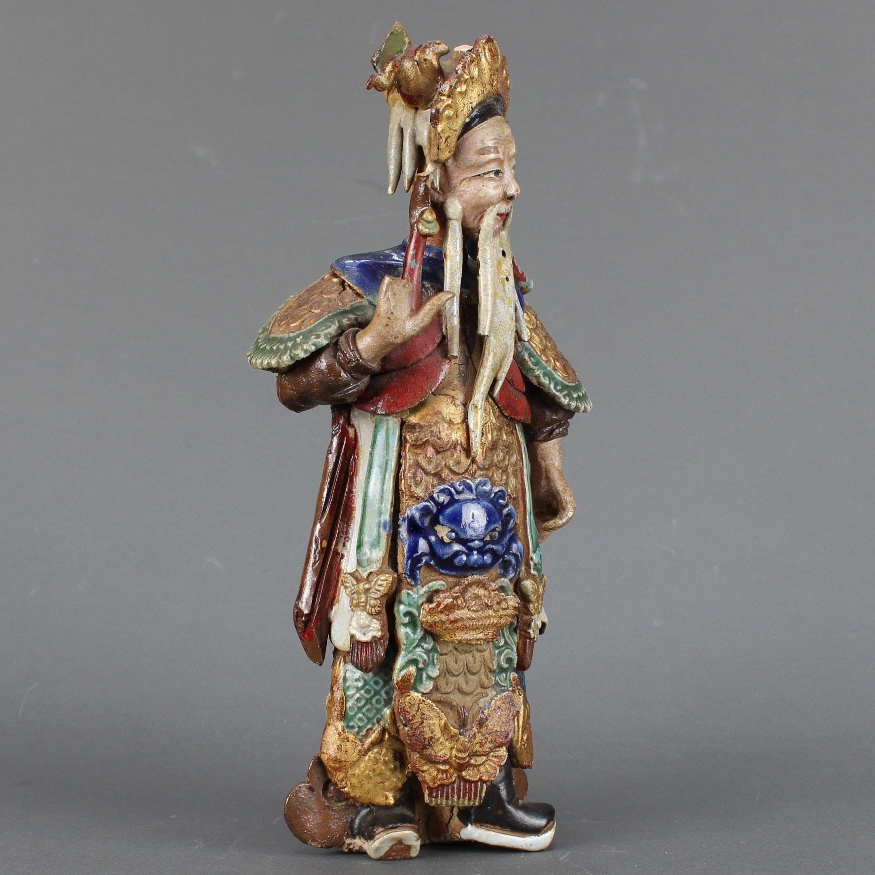 Two 'Chinese Earthenware Decorative Wall-Hanging Figures' (19th Century)
