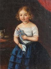 'Young Girl with Her Doll' (Late 18th Century)