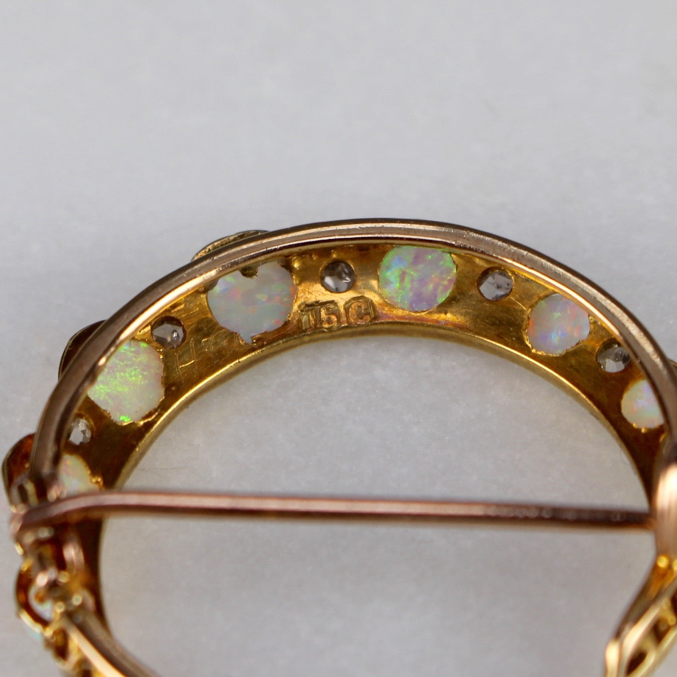 Opal and Diamond Brooch (Early 20th Century)