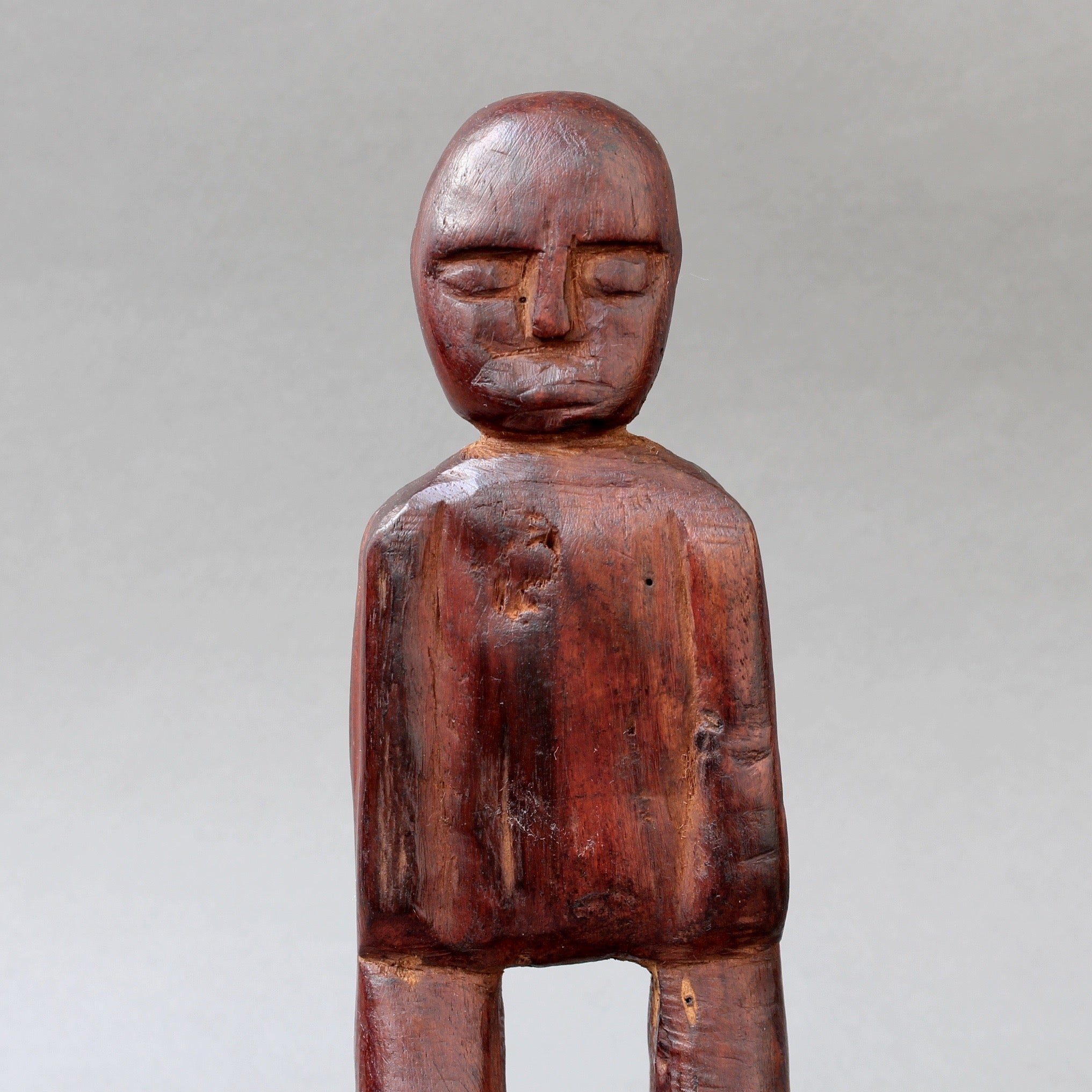 Sculpted Wooden Traditional Figure from Timor Island, Indonesia (circa 1960s - 1970s)
