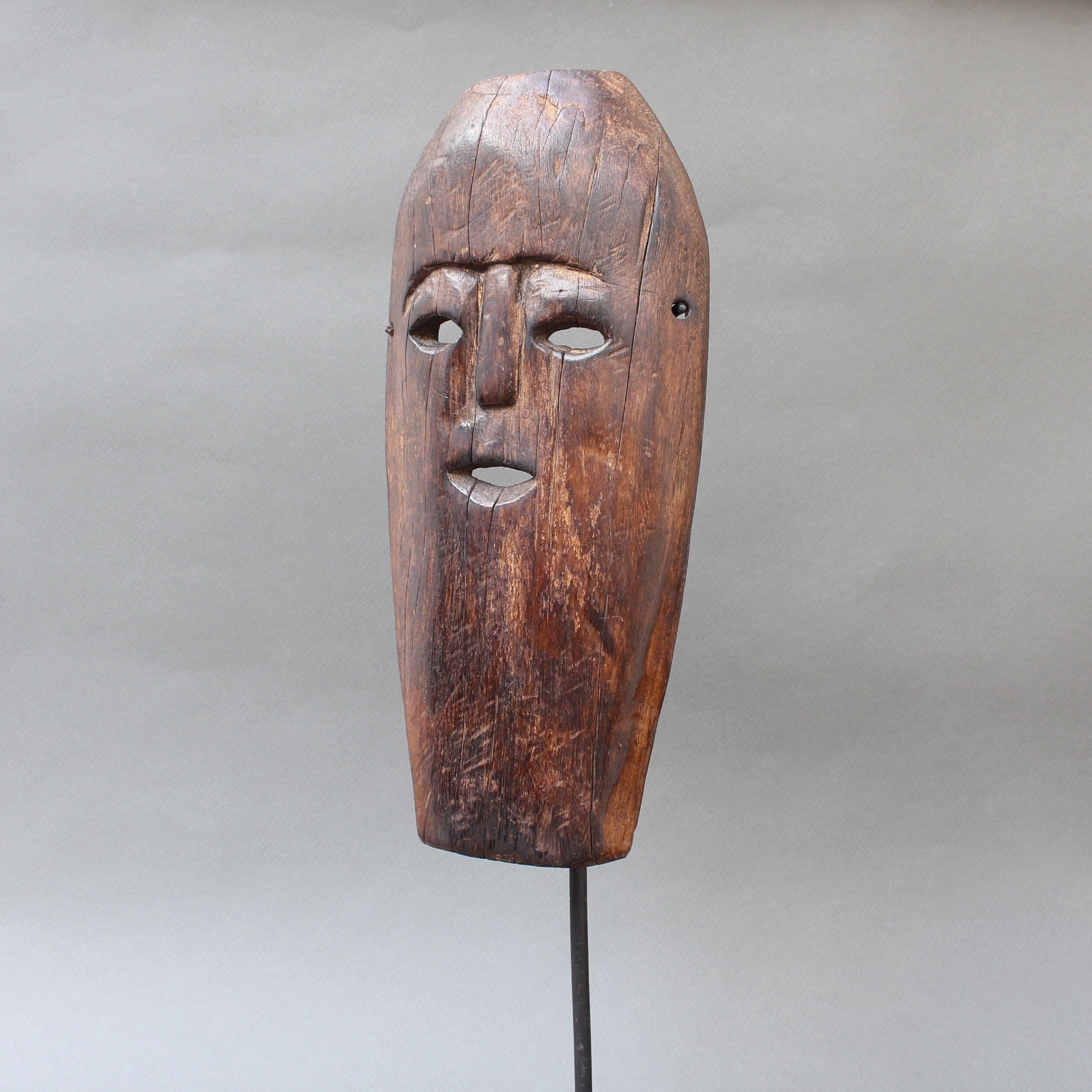 Sculpted Wooden Traditional Mask from Timor Island, Indonesia (circa 1960s - 1970s)