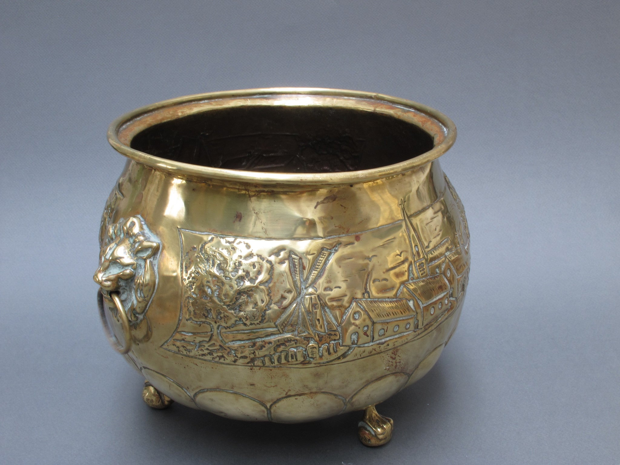 Vintage Dutch Brass Pot