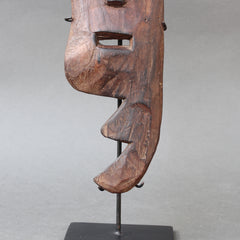 Sculpted Wooden Traditional Mask from Timor, Indonesia (circa 1960s - 1970s)