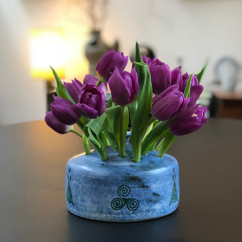 Ceramic Flower Vase by Jacques Blin (Circa 1950s)
