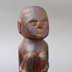 Wooden Sculpture / Carving of Sitting Figure from Sumba Island, Indonesia (circa 1970s - 1980s)